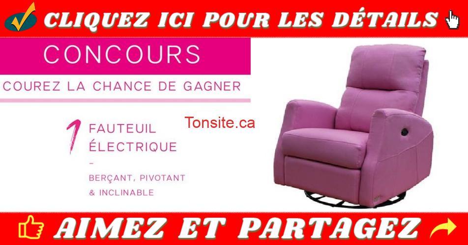 fauteuil concours2 - Participez et gagnez un fauteuil berçant, pivotant et inclinable