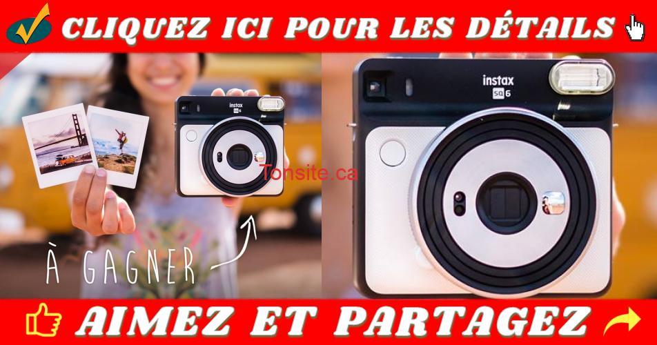 fujifilm concours - Gagnez un appareil photo Fujifilm Instax SQ-6