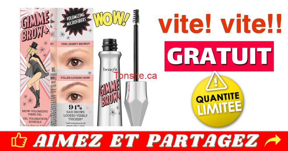 gimme brow gratuit - GRATUIT: Obtenez un gel volumateur pour les sourcils Gimme Brow+ GRATUIT !