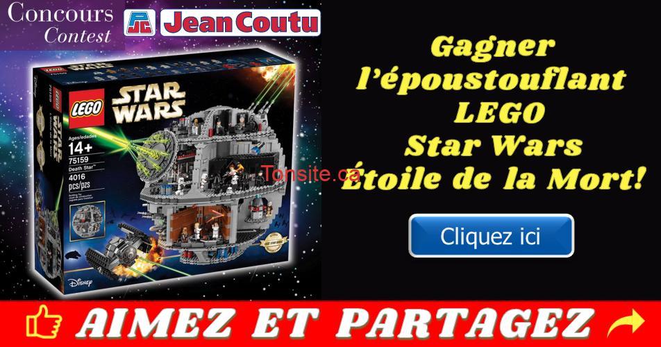 jean coutu lego concours - Concours Jean Coutu: Gagnez l'époustouflant LEGO Star Wars Étoile de la Mort!
