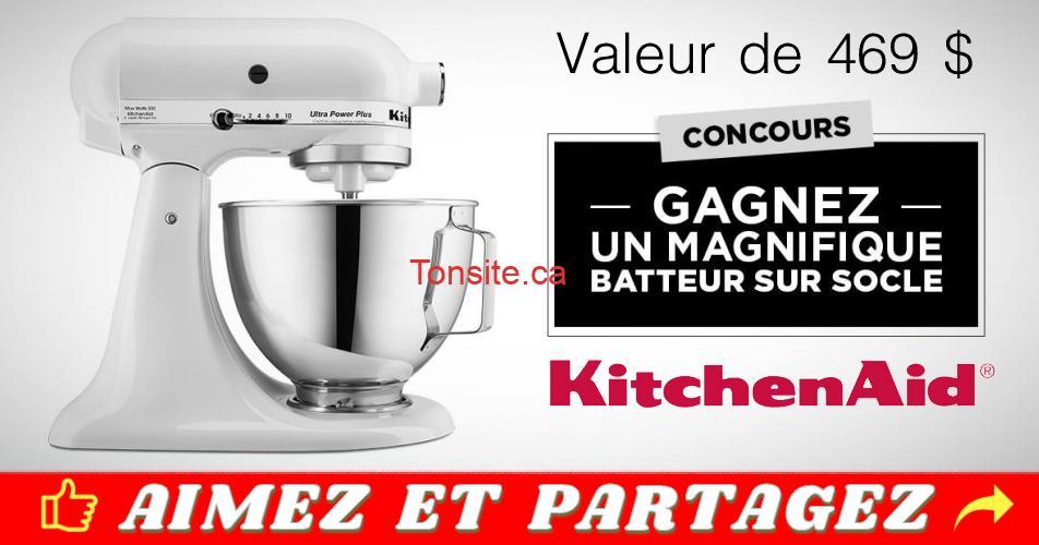 kitchenaid concours2 - Participez et gagez un batteur sur socle de marque KitchenAid