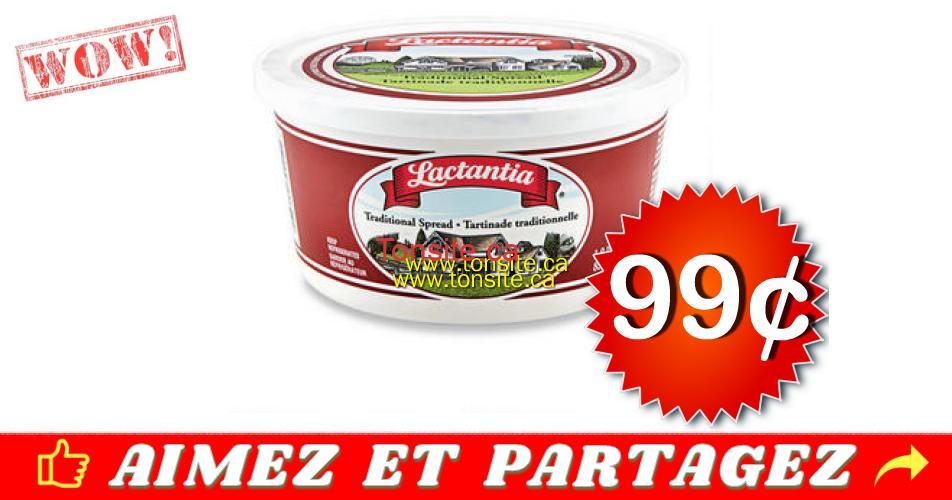 lactantia 99 off - Tartinade Lactantia à 99¢ au lieu de 2.49$