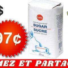 lantic 97 299 240x240 - Sucre granulé fin Lantic de 2kg à 97¢ seulement !