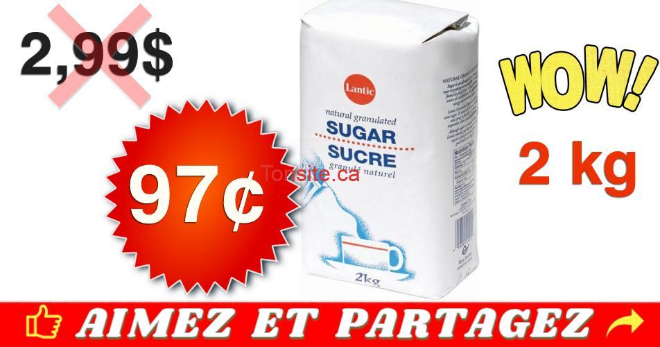 lantic 97 299 - Sucre granulé fin Lantic de 2kg à 97¢ seulement !