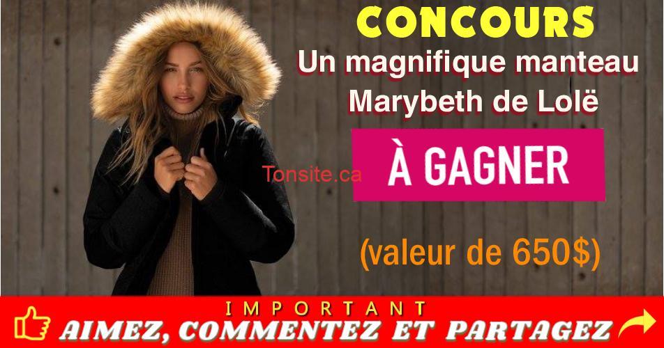 manteau marybeth de lole concours - Participez et gagnez un magnifique manteau Marybeth de Lolë (valeur de 650$)