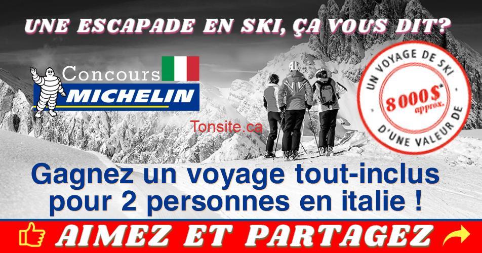 michelin concours3 - Concours Michelin: Gagnez un voyage de ski en italie pour 2 personnes (valeur de 8000$)