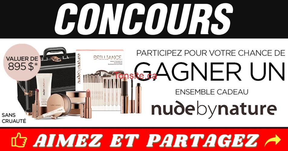 nude by nature concours - Gagnez un ensemble cadeau Nude by nature d'une valeur de 895$