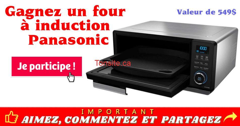 panasonic concours1 - Gagnez un four à induction Panasonic d'une valeur de 549 $