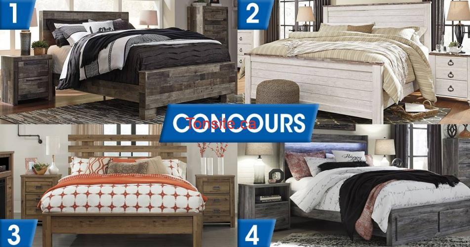 perreaut - Participez et gagnez 1 lit format grand lit et 2 tables de chevet (parmi les 4 choix)