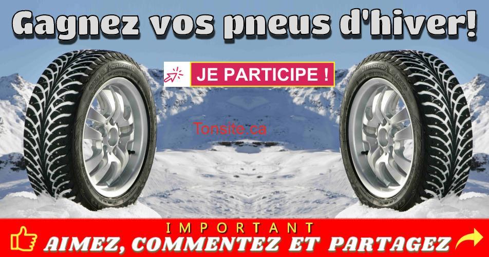 pneus dhiver concours 1 - Participez et gagnez vos pneus d'hiver (valeur de 500$)