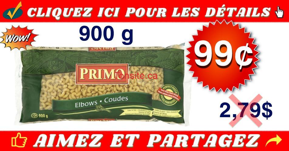 primo 99 279 - Pâtes alimentaires Primo (900 g) à 99¢ au lieu de 2,79$