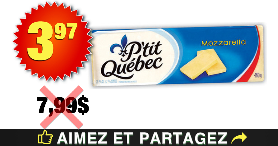 ptit qc 397 799 1 - Barres de fromage kraft P'tit Québec 3.97$ au lieu de 7,99$