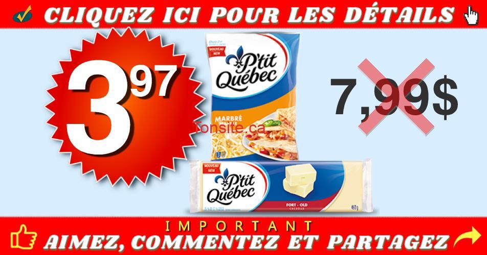 ptit qc rape bloc 397 799 - Fromage P'tit Québec râpé ou en bloc à 3,97$ au lieu de 7,99$