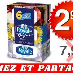 royale mouchoirs 299 799 240x240 - Emballage de 6 boîtes de papier mouchoirs Royale à 2,99$ au lieu de 7,99$