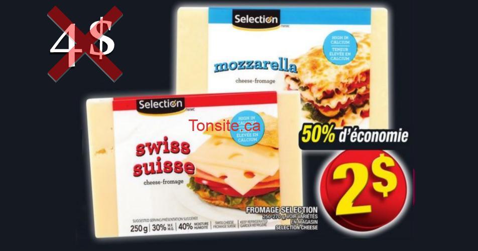 selection fromage2 4 off - Barre de fromage Selection à 2$ au lieu de 4$