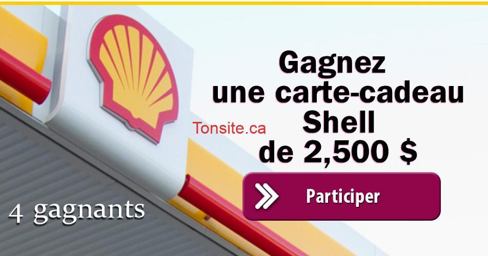 shell concours1 - 4 cartes-cadeaux Shell de 2,500$ à gagner