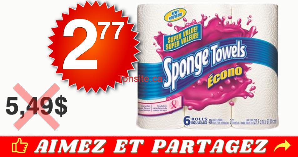 sponge towels econo 277 549 off - Emballage de 6 rouleaux d'essuie-tout Sponge Towels Econo à 2,77$ au lieu de 5,49$