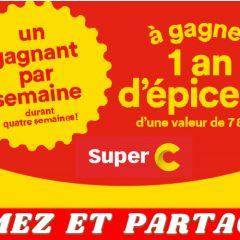 super c concours 240x240 - Concours Super C : Gagnez 1 an d'épicerie d'une valeur de 7800$ (4 gagnants)