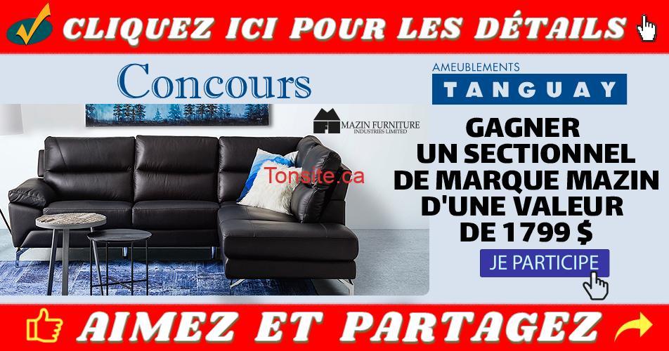 tanguay concours17 - Concours Ameublements Tanguay: Gagnez un sectionnel en cuir et similicuir (valeur de 1799$)