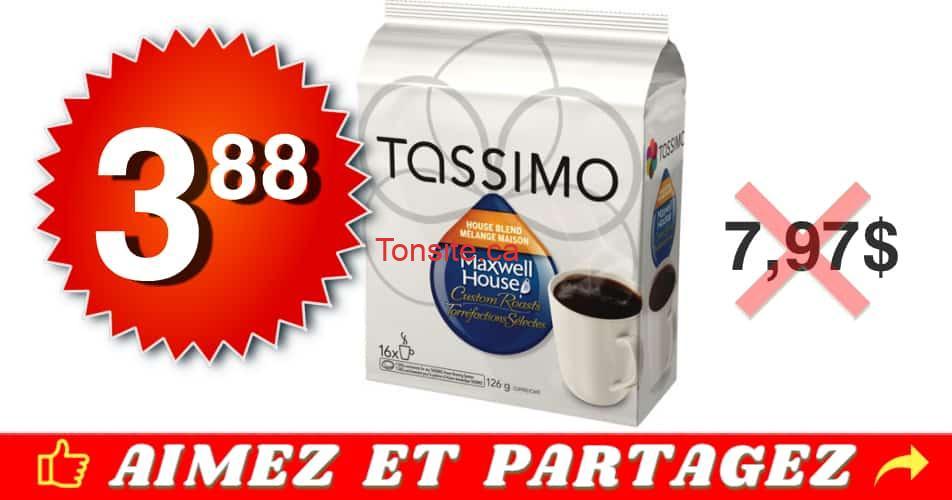tassimo 388 797 - Café en portions individuelles Tassimo à 3.88$ au lieu de 7,97$