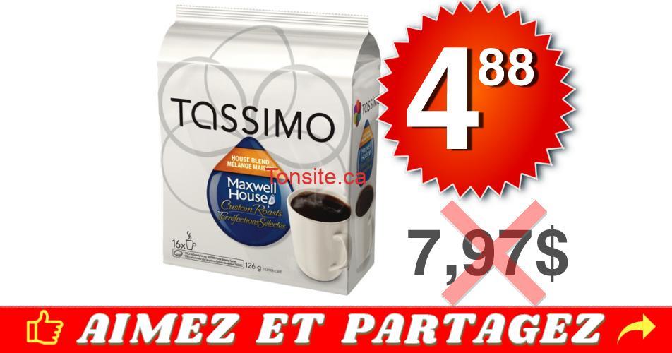 tassimo 488 797 - Café en portions individuelles Tassimo à 4.88$ au lieu de 7,97$