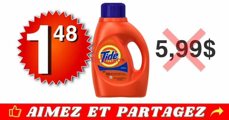 tide 148 599 off - Détergent à lessive Tide à 1.48$ au lieu de 5,99$