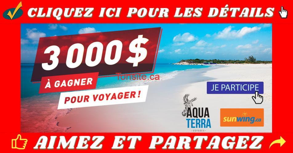 voyage 3000 concours - Participez et gagnez 3000$ pour voyager!