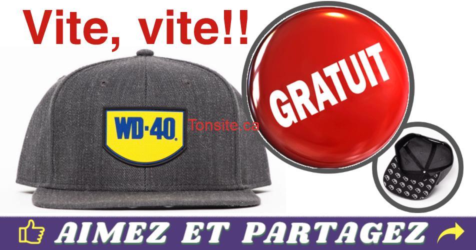wd 40 gratuit - Obtenez une casquette gratuite de marque WD-40 !