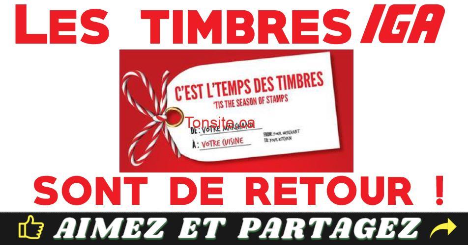 TIMBRES IGA - Les timbres d'IGA sont de retour! (du 24 octobre 2019 au 26 février 2020)