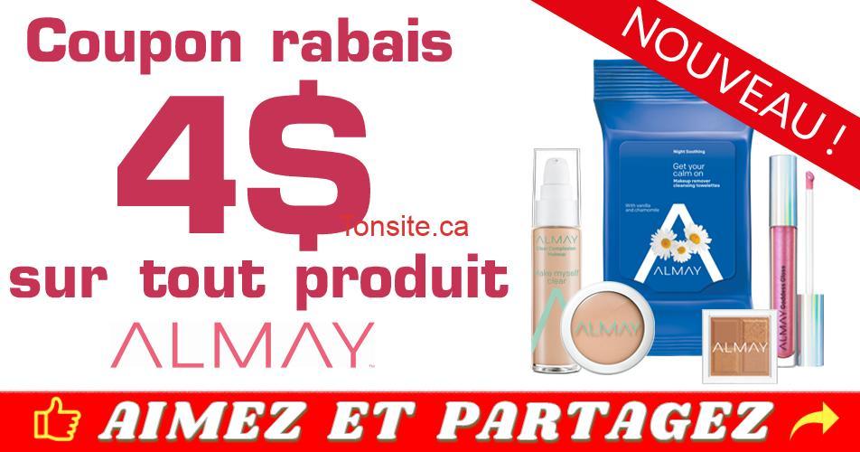 Photo of Coupon rabais de 4$ sur tout produit Almay