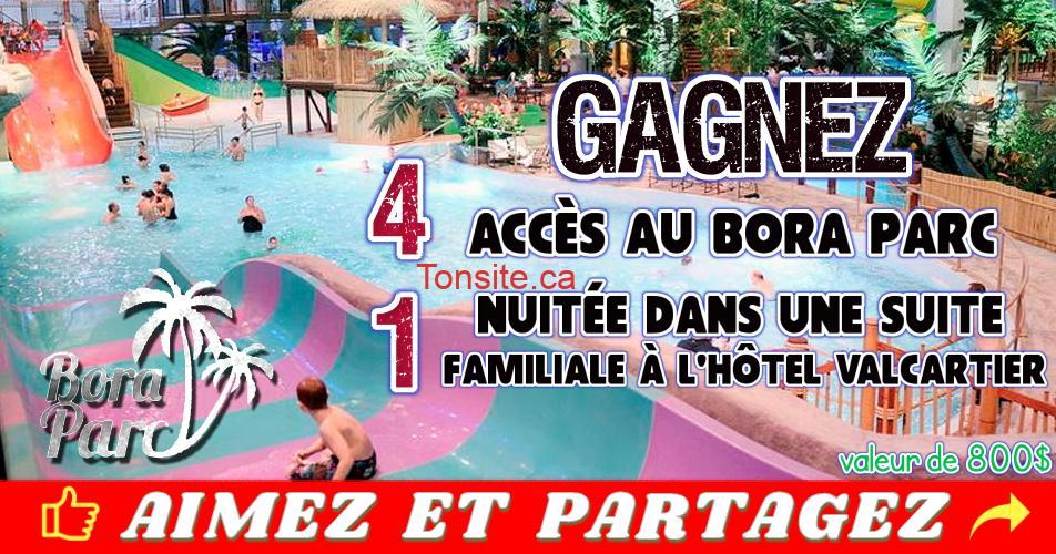 bora parc concours - Gagnez 4 accès au Bora Parc et 1 nuitée dans une suite familiale à l'hôtel Valcartier