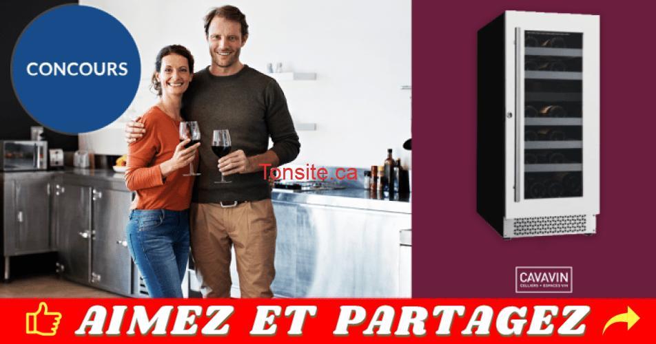 cavanin concours - Gagnez un cellier à vin de la marque CAVAVIN d'une valeur de 1200 $