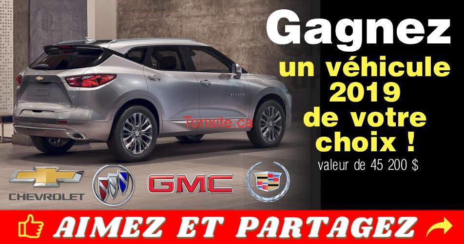 chevrolet concours 2018 - Concours GM Canada: Gagnez 1 véhicule 2019 de votre choix (valeur de 45 200 $)