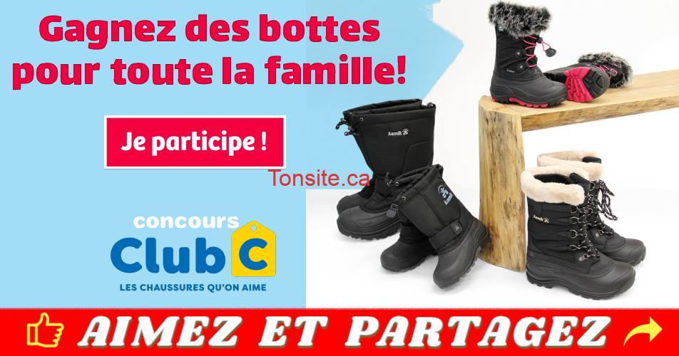 clubc concours - Gagnez des bottes de neige pour toute la famille (4 paires)