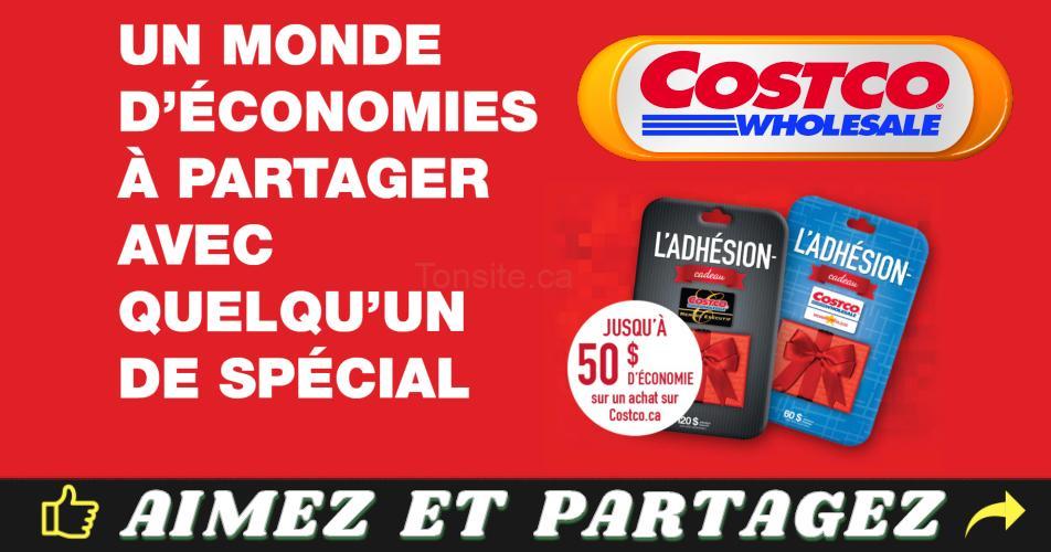 costco promotion - Costco: Obtenez un bon de 25$ ou de 50$ gratuitement!