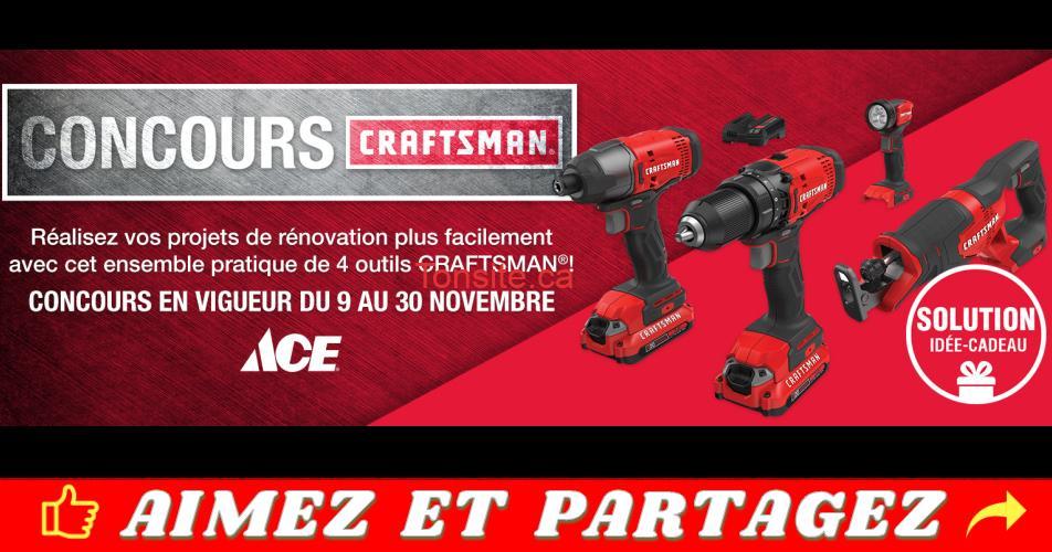 craftsman ace - Participez et gagnez un ensemble de 4 outils CRAFTSMAN