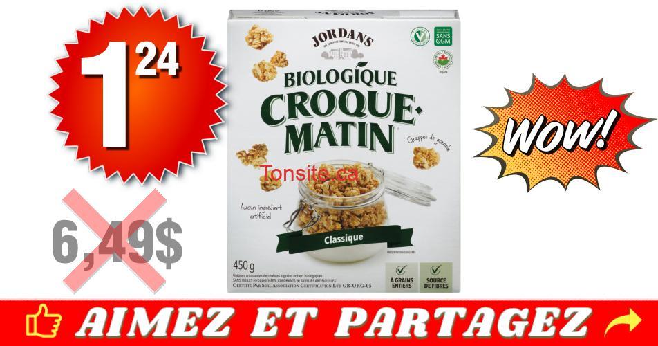 croque matin 124 649 - Céréales Croque Matin (format familial) à 1,24$ au lieu de 6,49$