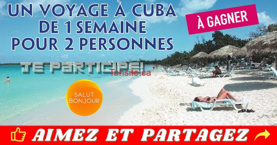cuba voyage01 - Concours TVA: Un voyage à Cuba de 1 semaine pour deux (2) personnes à gagner!