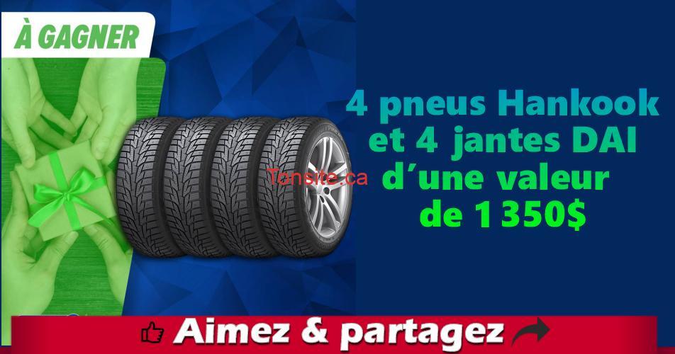 desharnais concours - Gagnez 4 pneus Hankook et 4 jantes DAI d'une valeur de 1 350$