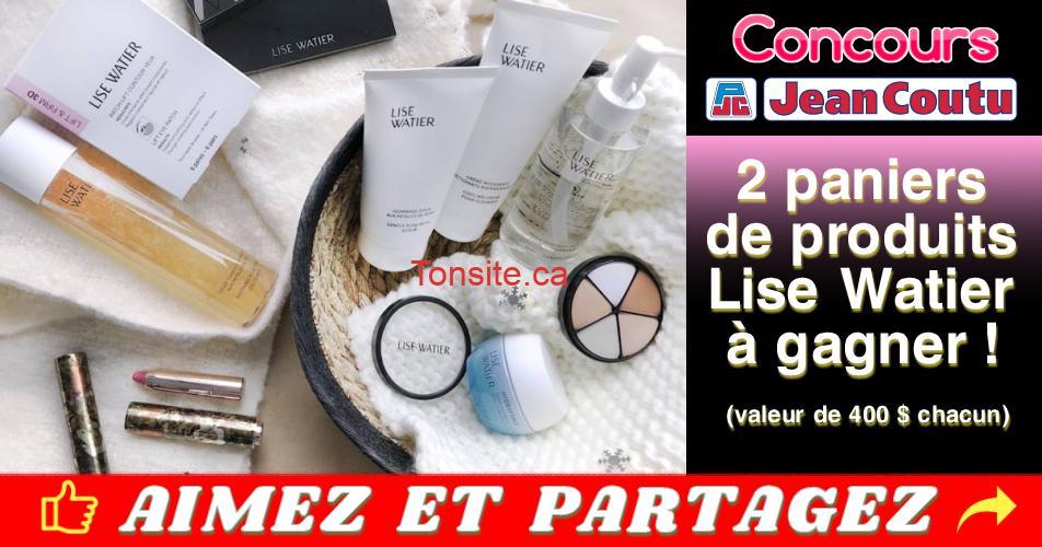 jean coutu concours8 - Concours Jean Coutu: Gagnez 1 des 2 paniers de produits Lise Watier (valeur de 400$ chacun)