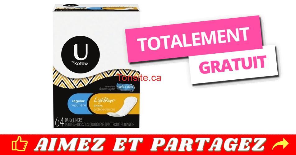 kotex gratuit - Obtenez un emballage de produits d'hygiène féminine U By Kotex gratuitement!
