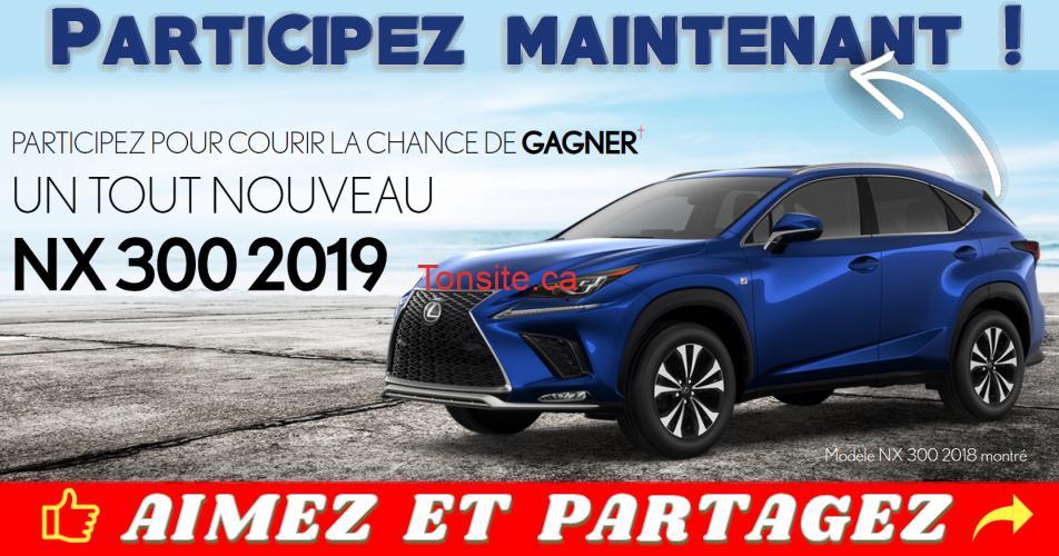 lexus 2019 concours - Participez et gagnez un tout nouveau Lexus NX 300 F SPORT Série 1 2019