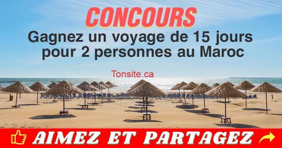 maroc concours2 - Participez et gagnez un voyage de 15 jours pour 2 personnes au Maroc