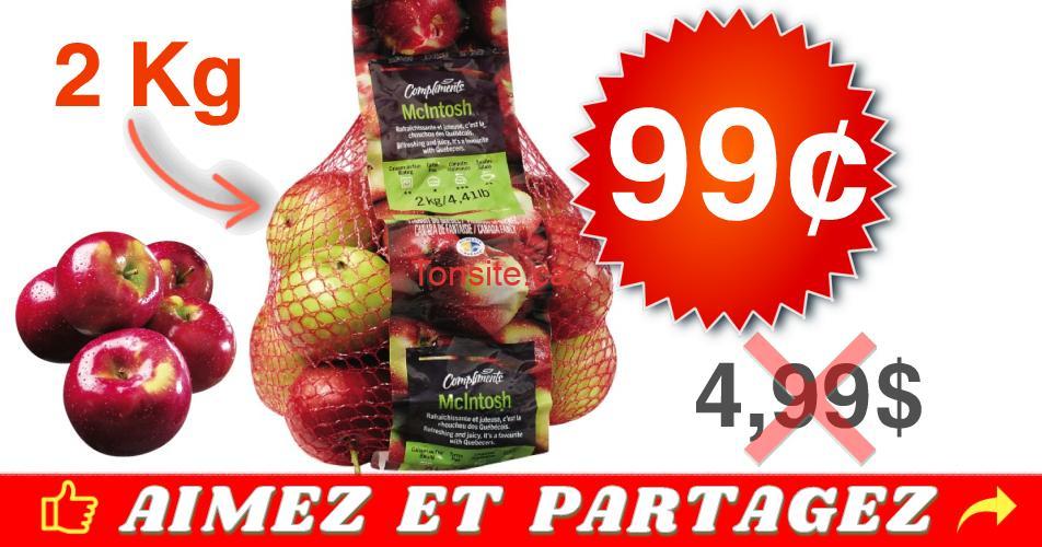 mcintoch 99 - Sac de 2kg de pommes à 99¢ au lieu de 4,99$