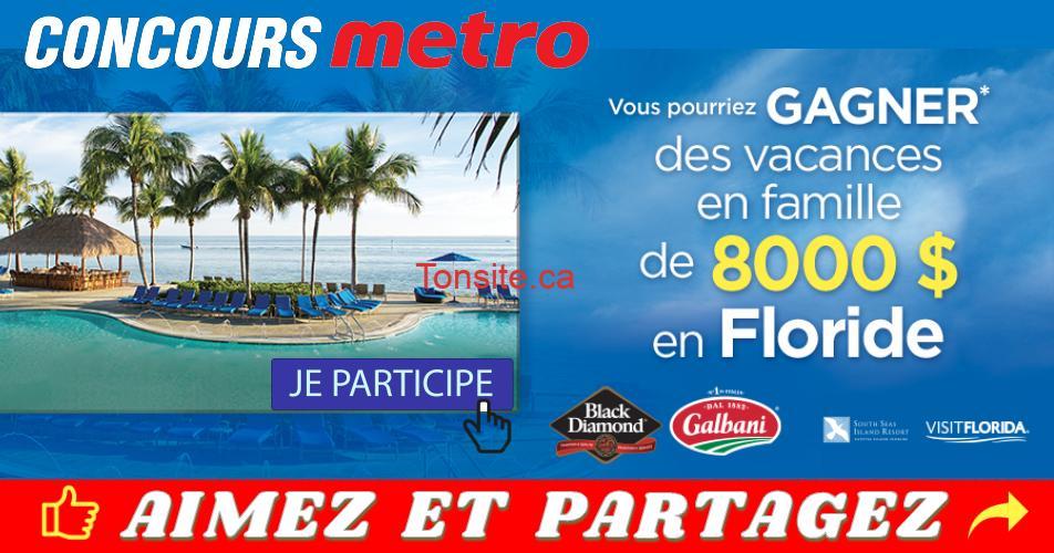 metro concours 4 - Gagnez des vacances en famille de 8000$ en Floride