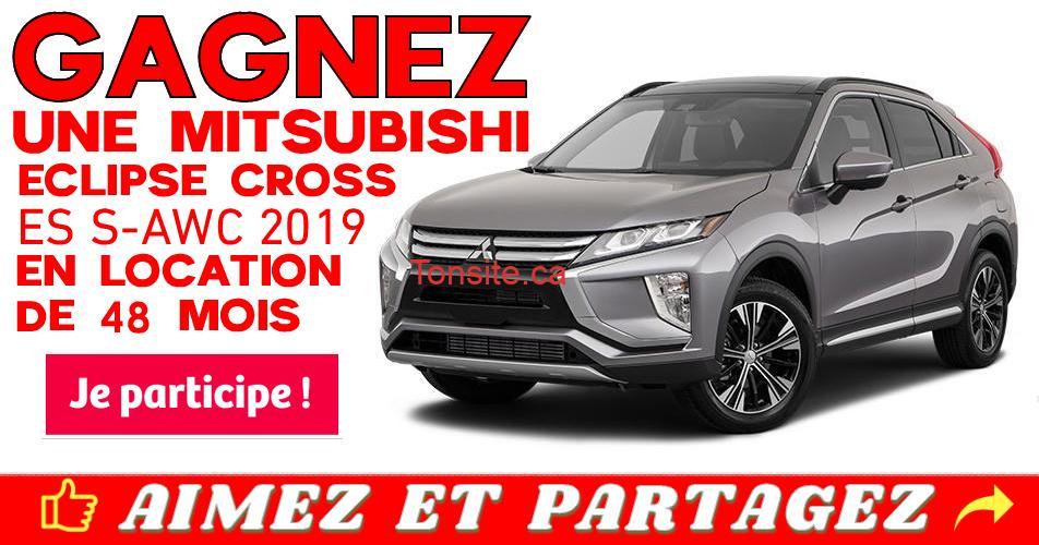 mitsubishi concours - Gagnez une location d'une Mitsubishi Eclipse Cross ES S-AWC 2019 de 48 mois