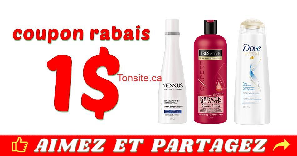 nexxus tresemme dove coupon - Coupon rabais de 1$ sur un produit capillaire Nexxus, TRESemmé ou Dove