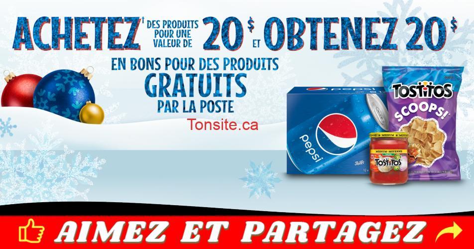 pepsico promo2018 - Promotion PepsiCo: Achetez 20$ et obtenez 20$ en bons par la poste pour des produits gratuits