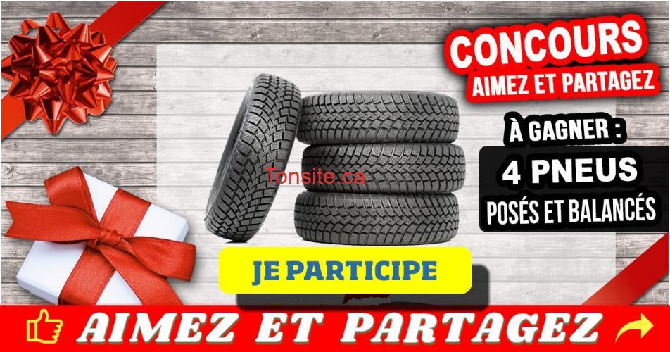 pneus concours lemieux - Participez et gagnez 4 pneus posés et balancés