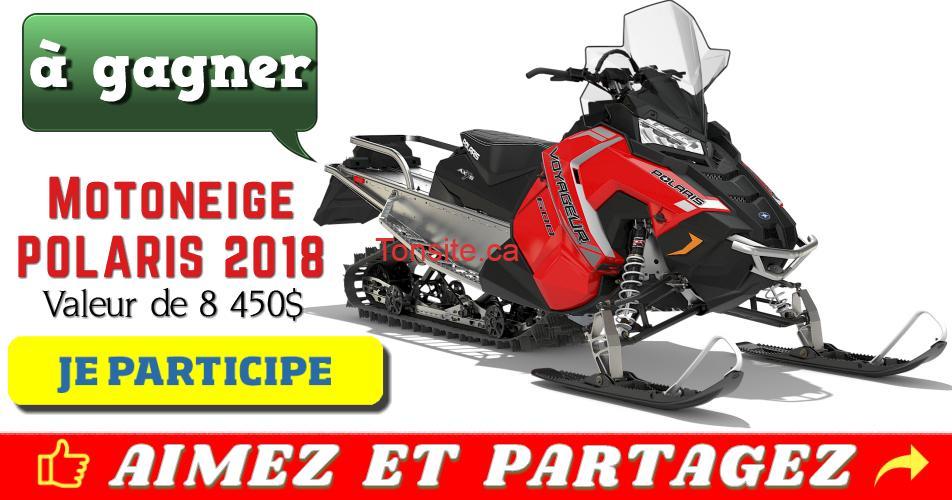 polaris concours - Participez et gagnez une motoneige Polaris 2018 d'une valeur de 8450$